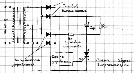 В этой схеме диоды выпрямителя